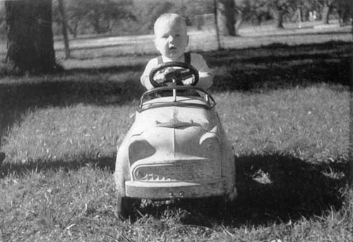 I've always liked driving; this is me behind the wheel in March of 1959