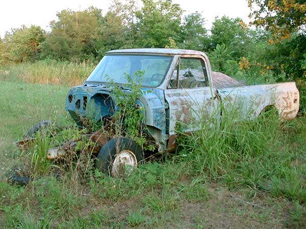 This 1972 Chevy has seen better days
