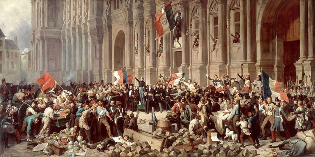 Lamartine in front of the Hôtel de Ville of Paris, on February 25, 1848, by Félix Philippoteaux.